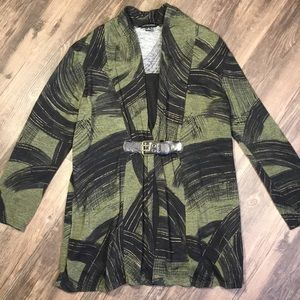 Green and Black Belted Top